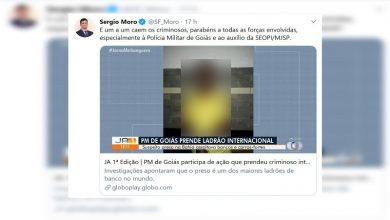 Photo of Polícia Militar de Goiás é elogiada pelo Ministro da Justiça, Sérgio Moro